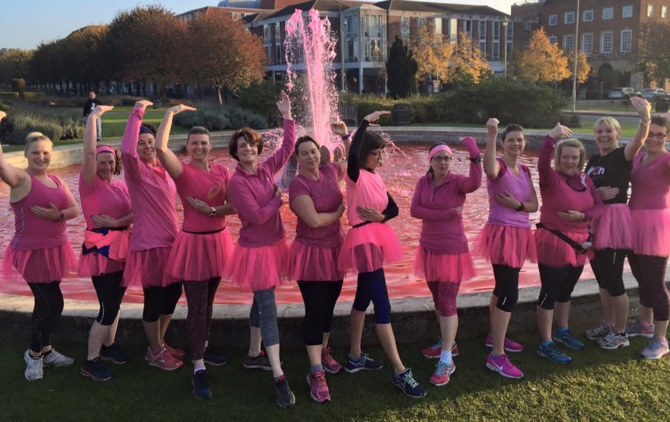 Sunday 23rd Oct Pink Cake run £65.00 Kerching to Breast Cancer Ballerina and Self check pose!